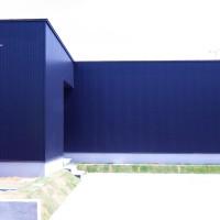 坪庭とWood Deckのある平屋